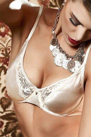 Agent Of Love Бюстгальтер цвета слоновой кости с кружевными элементами и косточками, 32 A (большое фото) > Секс-шоп Мир Оргазма