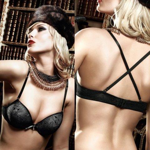 Agent Of Love Бюстгальтер черный с косточками, мягкими чашечками и съемными бретельками 32 A (большое фото 3) > Секс-шоп Мир Оргазма