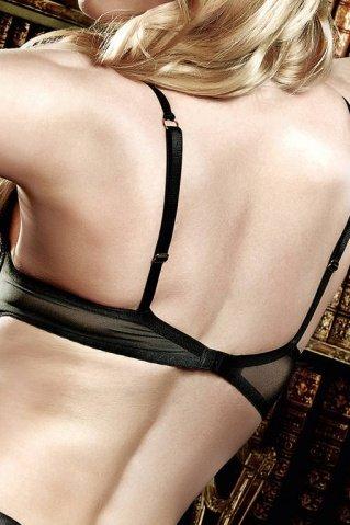 Agent Of Love Бюстгальтер черный кружевной с косточками мягкими чашечками и бантиком 32 A (большое фото 2) > Секс-шоп Мир Оргазма