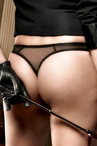 Agent Of Love G-Стринги черные с нежным узором, фото 3