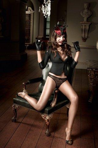 Agent Of Love G-Стринги черные с нежным узором, фото 4