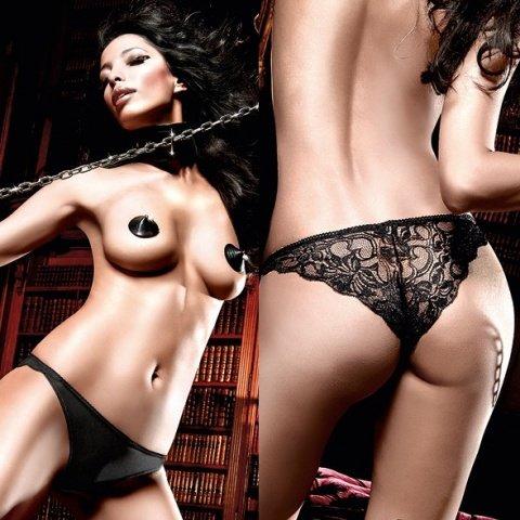 Beauty Inside The Beast Трусики черные с кружевными узорами сзади ML (большое фото 3) > Секс шоп Мир Оргазма
