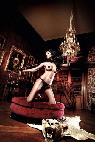 Beauty Inside The Beast Трусики черные с кружевными узорами сзади ML (большое фото 4) > Секс шоп Мир Оргазма