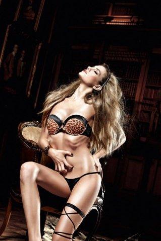 Beauty Inside The Beast Бюстгальтер черный с леопардовым узором, мягкими чашечками и косточками (большое фото 4) > Интернет секс шоп Мир Оргазма
