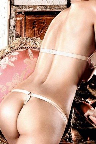 Beauty Inside The Beast Комплект бикини светло-бежевый с металлическими кольцами, фото 3