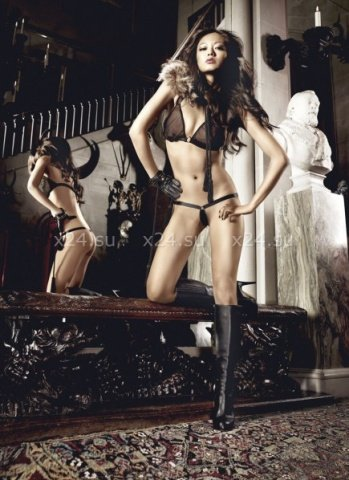 Beauty Inside The Beast Комплект бикини черныйс металлическими кольцами, фото 2