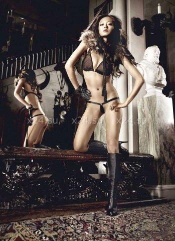Beauty Inside The Beast Комплект бикини черныйс металлическими кольцами, фото 6