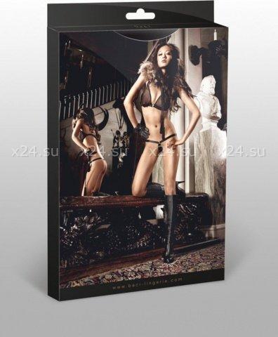 Beauty Inside The Beast Комплект бикини черныйс металлическими кольцами, фото 5
