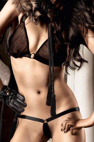 Beauty Inside The Beast Комплект бикини черныйс металлическими кольцами