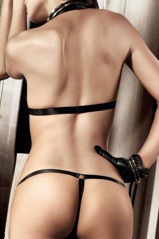 Beauty Inside The Beast Комплект бикини черныйс металлическими кольцами, фото 4