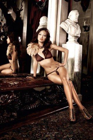 Beauty Inside The Beast Комплект бикини коричневый с металлическими кольцами, фото 8