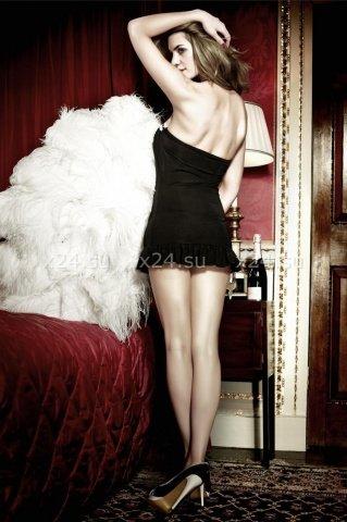 Have Fun Princess Платьице черное без бретелек с белыми кружевными краями, фото 3