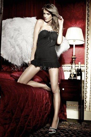 Have Fun Princess Платьице черное без бретелек с белыми кружевными краями, фото 4