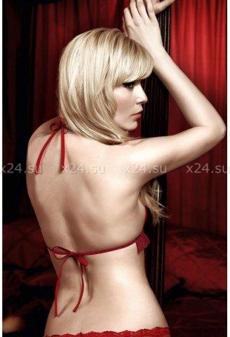 Have Fun Princess Комплект красный бикини из кружевного Бюстгальтера с завязками за шеей, фото 4