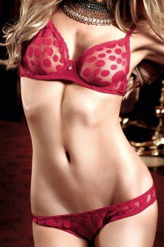 Have Fun Princess Комплект бордовый бикини из Бюстгальтера и трусиков в горошек, фото 2