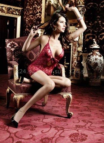 Have Fun Princess Платьице бордовое в горошек с завязками за шеей и шнуровкой спереди