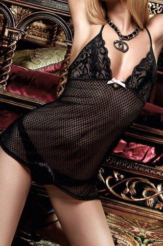 Have Fun Princess Платьице черное из узорчатой тюлевой ткани с кружевным бюстье