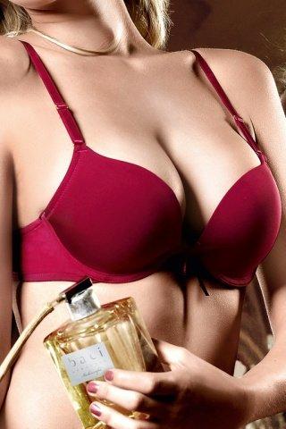 Have Fun Princess Бюстгальтер красно-бордовый с мягкими чашечками, косточками и съемными бретельками, фото 3