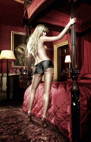 Have Fun Princess Шортики черные сатиновые с разрезами на бедрах, фото 2