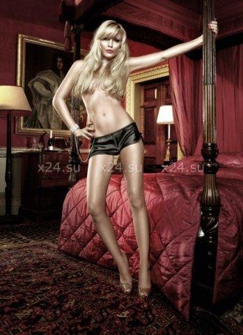 Have Fun Princess Шортики черные сатиновые с разрезами на бедрах, фото 4