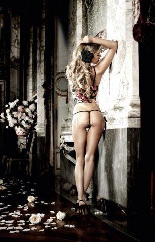 Dolce Vita G-Стринги черные с роскошными цветочными узорами и кружевными краями, фото 2