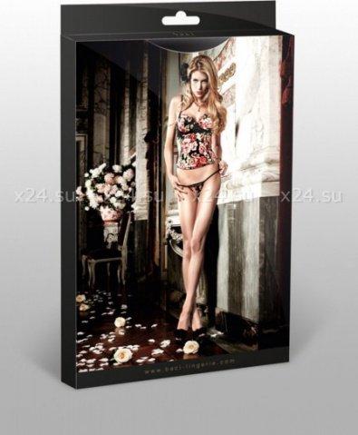 Dolce Vita G-Стринги черные с роскошными цветочными узорами и кружевными краями, фото 3