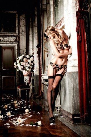 Dolce Vita G-Стринги и подвязка для чулков с роскошным кружевным узором, фото 4