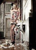 Платьице черное без бретелек с роскошным цветочным узором - Секс шоп Мир Оргазма