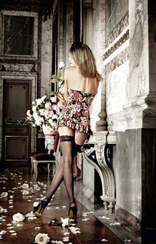Dolce Vita Платьице черное без бретелек с роскошным цветочным узором, фото 2