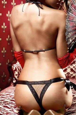 Dolce Vita Комплект бикини черныйиз тюлевой ткани в точечку и кружевной кромкой, фото 4