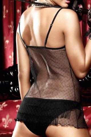 Dolce Vita Платьиц= черное с матовым передом и тюлевой ткани в точечку, фото 4
