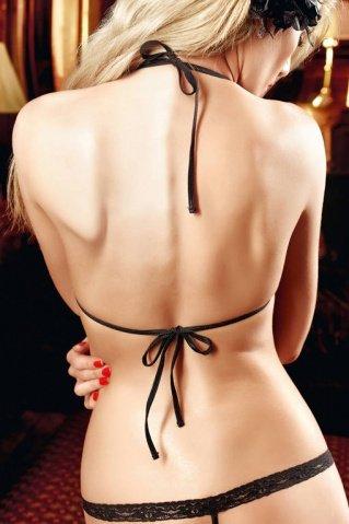 Dolce Vita Комплект бикини черныйс роскошной цветочной вышивкой и кружевной кромкой, фото 4