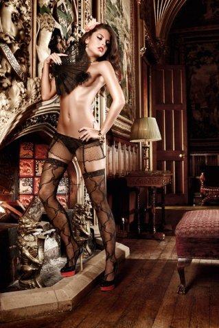 Dolce Vita Подвязки черные для чулков в виде юбочки из тюлевой ткани в точечку, фото 3