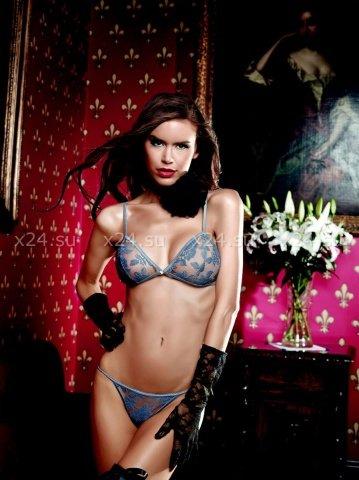 Dolce Vita Комплект бикини антрацитовый с цветочной вышивкой, фото 3