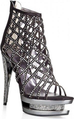 Шикарные туфли с кристаллами glare 38