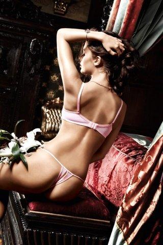 Dolce Vita Бюстгальтер розовый с светло-серыми кружевными краями и косточками