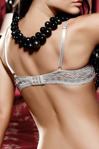 Dolce Vita Бюстгальтер кружевной светло-серого цвета с чашечками и косточками, фото 4