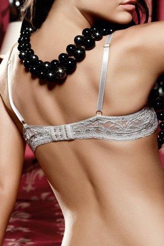 Dolce Vita Бюстгальтер кружевной светло-серого цвета с чашечками и косточками, фото 3