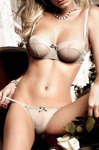 Dolce Vita Комплект бикини светло-серый с косточками и бантиком
