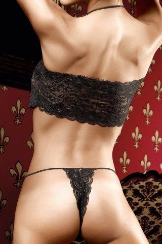 M/l черно-серые стринги с орнаментом, фото 3