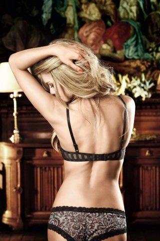 Dolce Vita Бюстгальтер черный с полупрозрачными полосами и косточками
