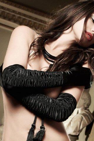 Accessoires Перчатки черные длинные из сатина