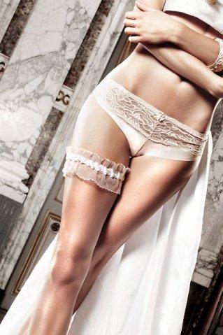 Accessoires Подвязка белая из тюля с рюшечками, фото 2