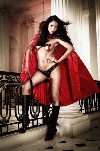 Костюм дьяволица: накидка красная с красивым огромным воротником из пайеток