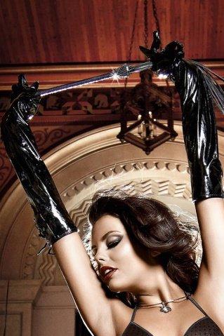 Accessoires Перчатки черные в сверкающем виде со шнуровкой