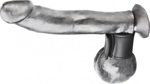 Хомут-утяжка для мошонки из искусственной кожи на липучке velcro ball stretcher, фото 3