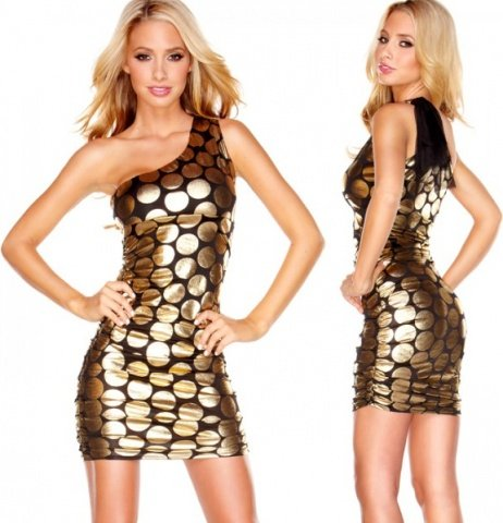 Черно-золотое платье gold fashion l