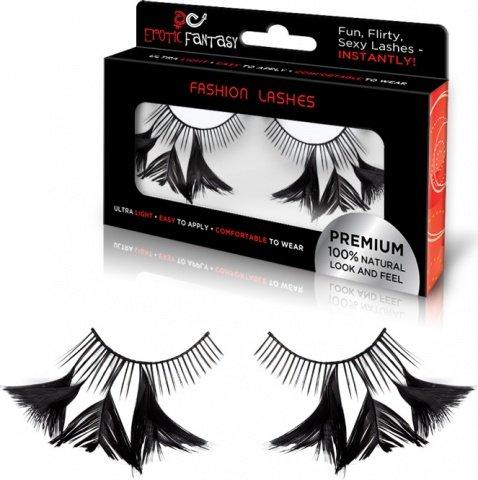 Накладные черные ресницы с перышками flirty feathers (большое фото) > Интернет секс шоп Мир Оргазма