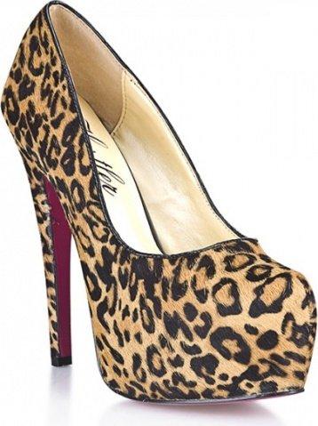 Туфли из из искусственного меха леопарда leo desire 8