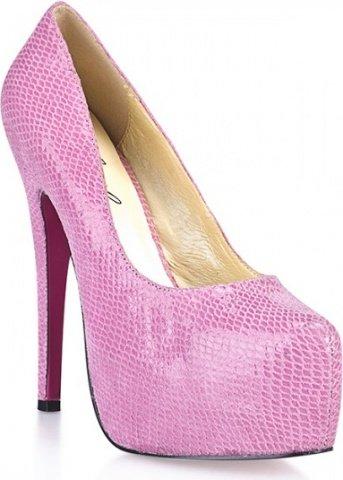 Розовые туфли под питона glamour snake 5